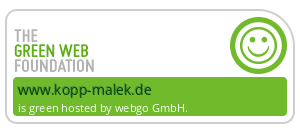 Die Website kopp-malek.de wird grün gehostet